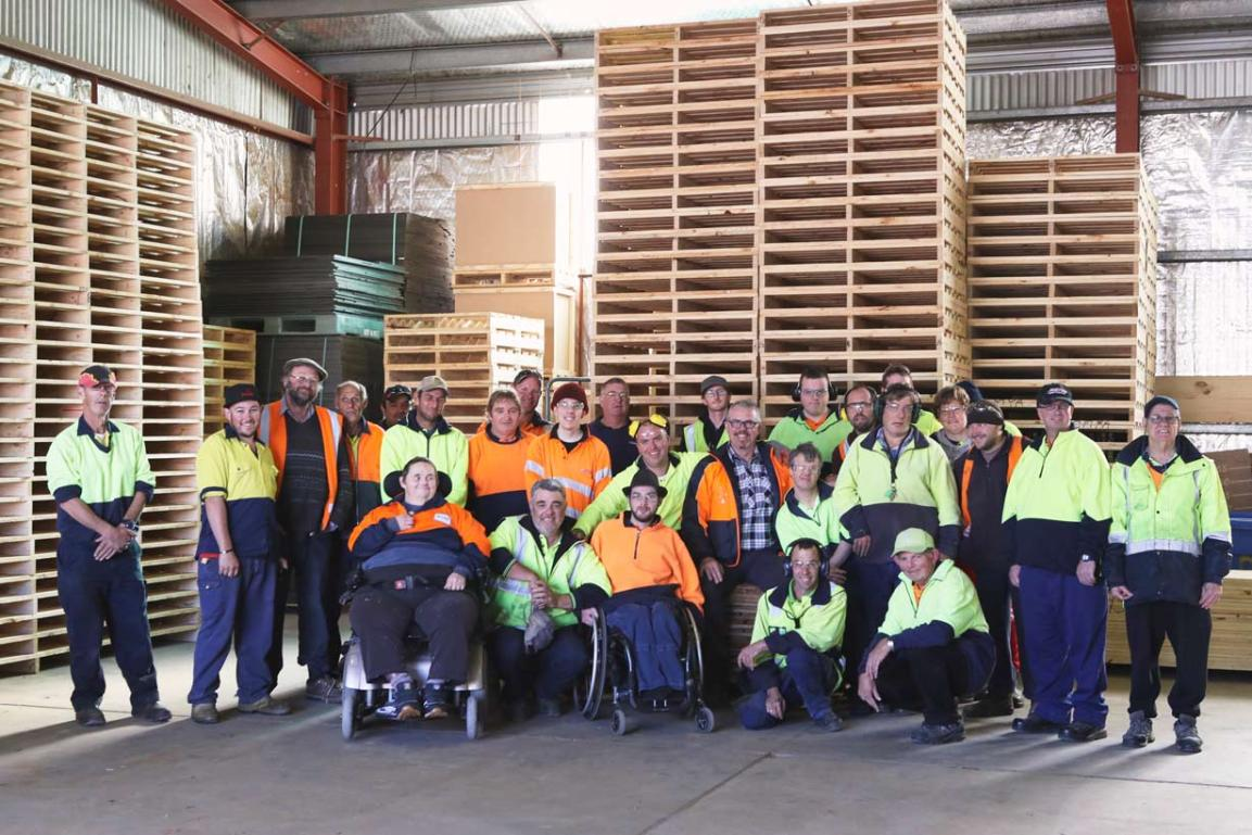 Glenray supported employment workers